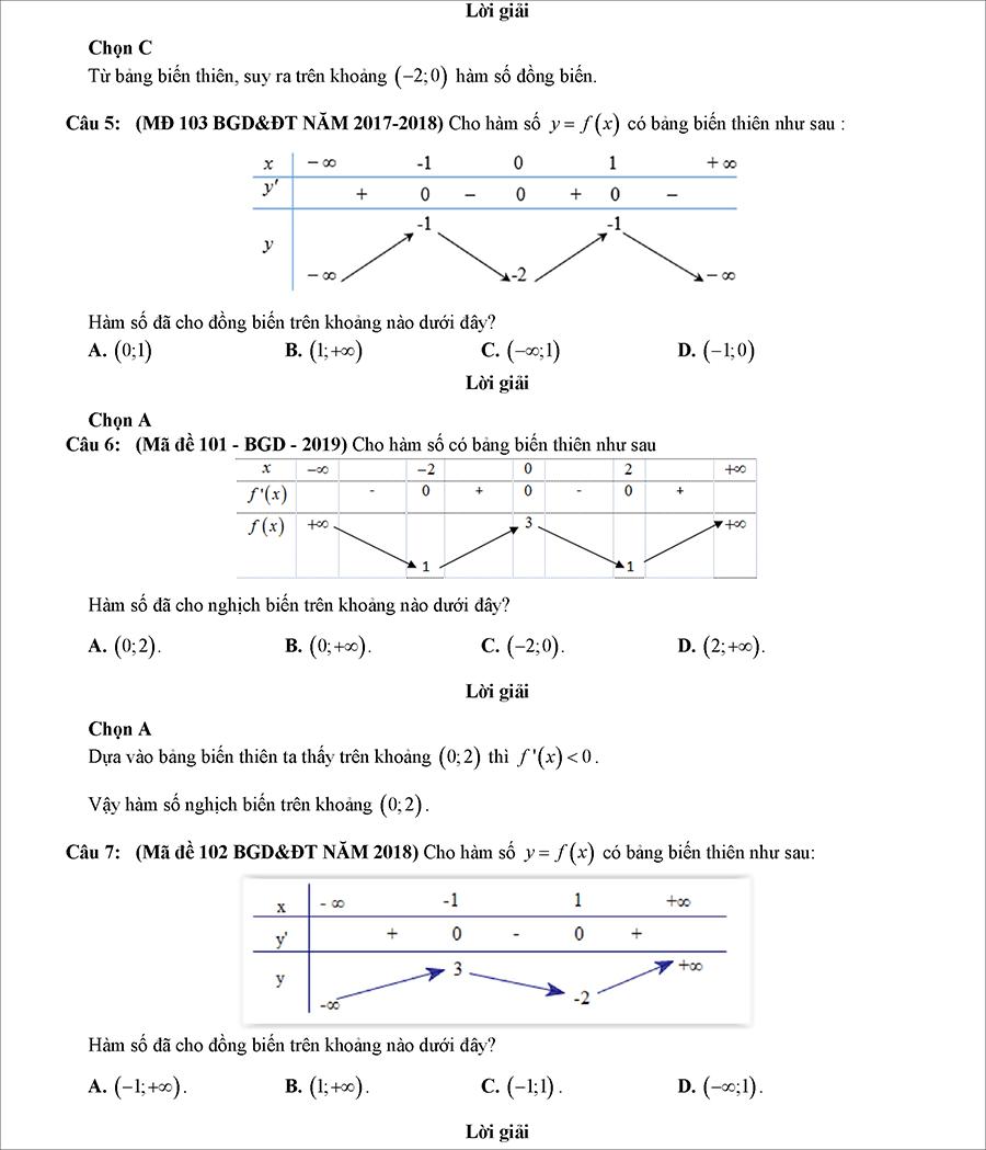 Các dạng bài tập biện luận tham số m để hàm số đơn điệu 3