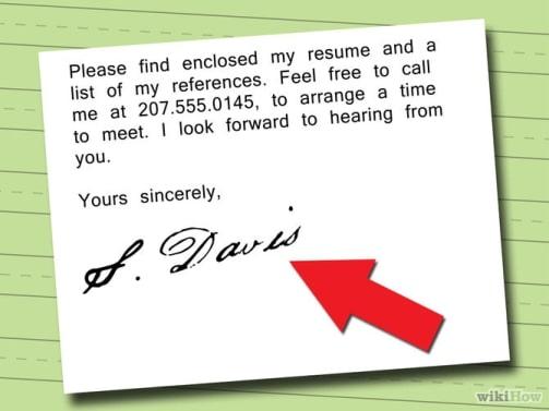 Chữ ký đơn xin việc
