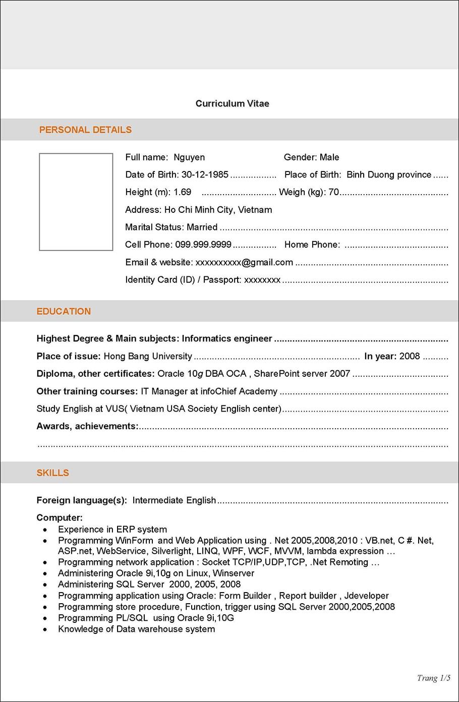 CV ERP Developer