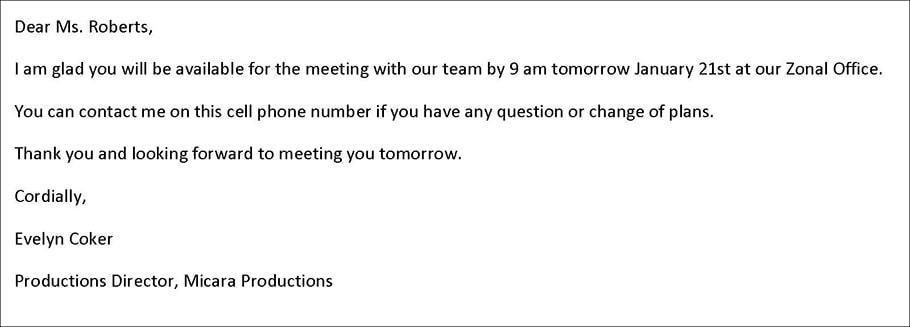 Email confirm xác nhận cuộc hẹn